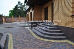 Тротуарная плитка Старый город коричневая