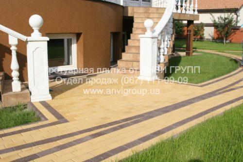 Тротуарная плитка Кирпич желтый