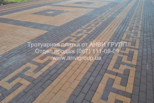 тротуарная плитка Кирпич коричневая