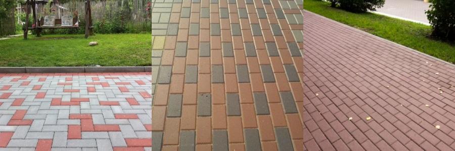 тротуарная плитка кирпич фото